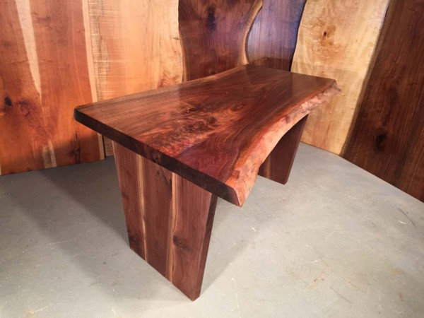 5' Curly Walnut Crotch Handmade Custom Desk