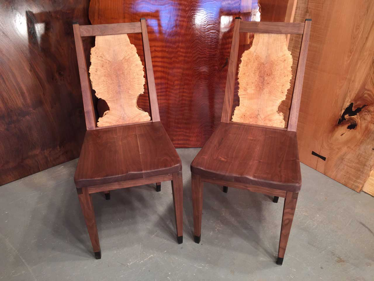 Wood Slab Chairs Dumond S Custom Furniture