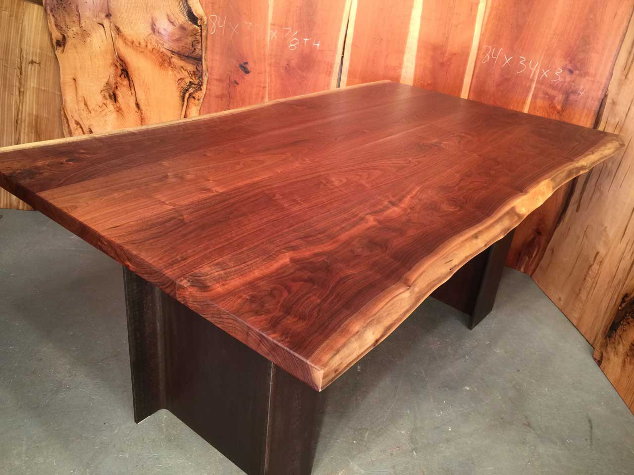 Beautiful live edge walnut top