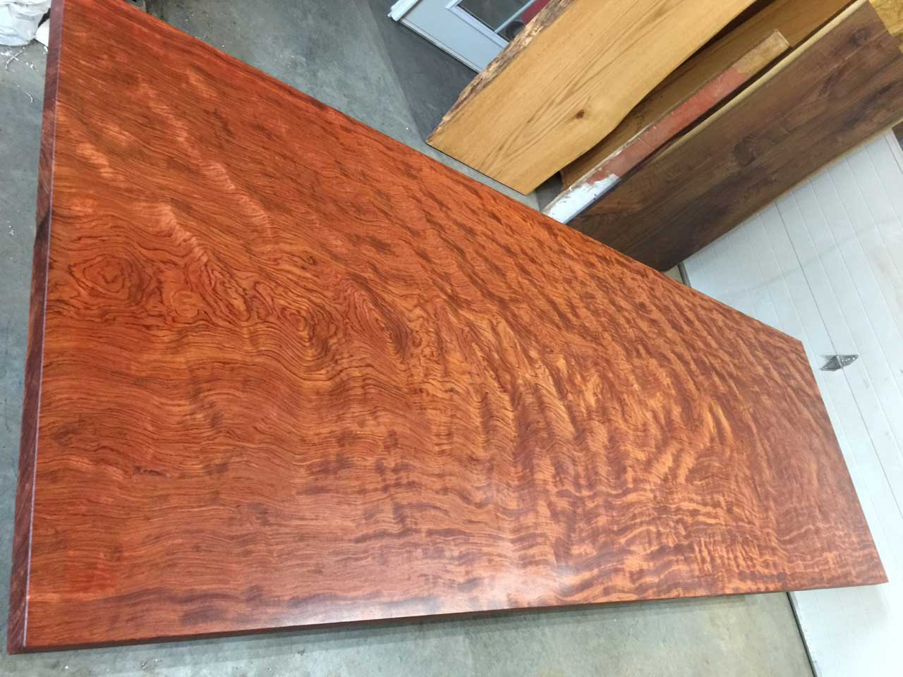 Figured Bubinga table top