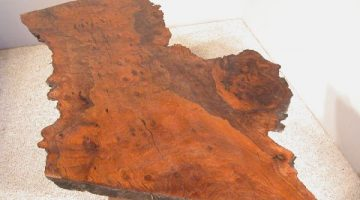 Irregular Walnut Burl Slab Custom Coffee Table 1