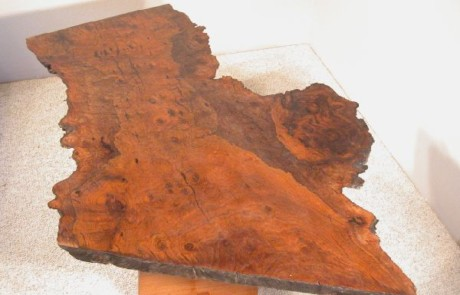 Irregular Walnut Burl Slab table