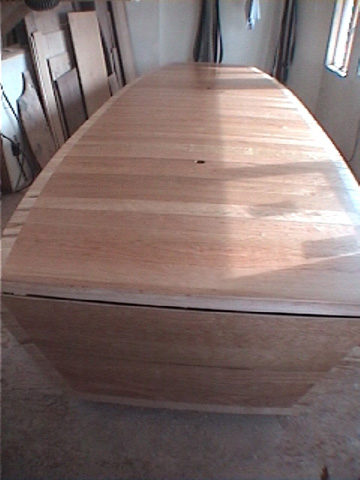 LARGE 16' Cherry and Birdseye Maple Custom Conference Table BoardroomTable3