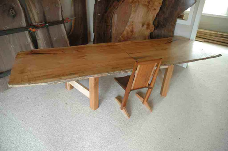 11' Custom Rustic Restored Wood Conference Table