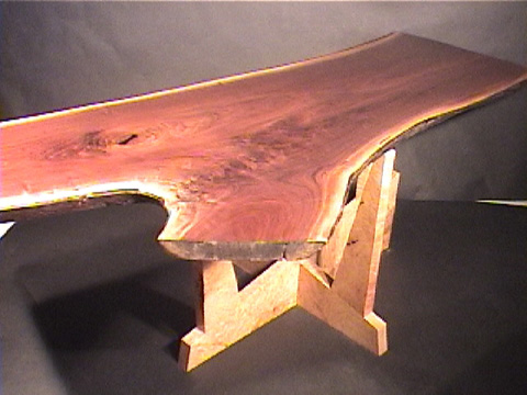 Hand Built Levitating Custom Walnut Crotch Slab Dining Table 1