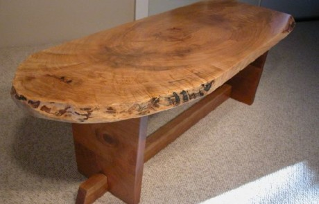 Maple Slab Custom Coffee Table