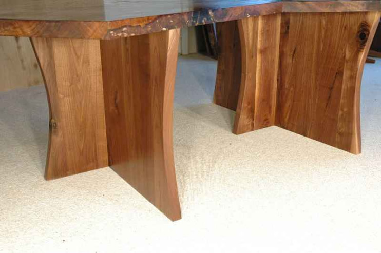 Modular (2 Piece) Claro Walnut Slab Table2