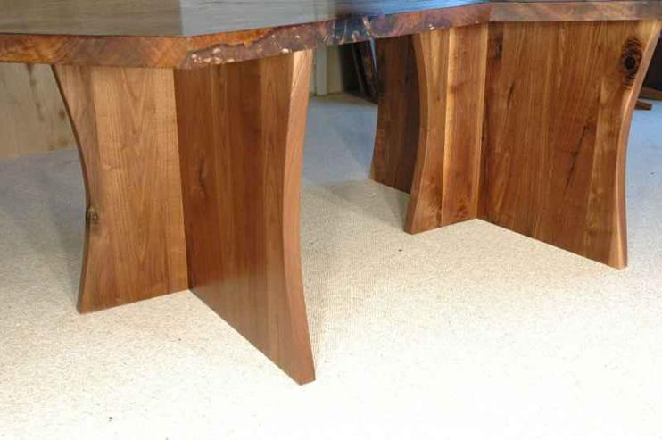 Modular (2 Piece) Claro Walnut Slab Table2