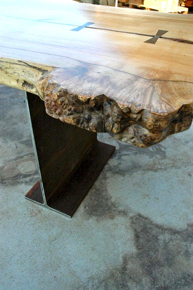 Curly Burl Maple Dining Table3