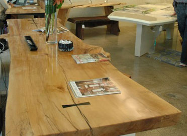 Curly Burl Maple Dining Table