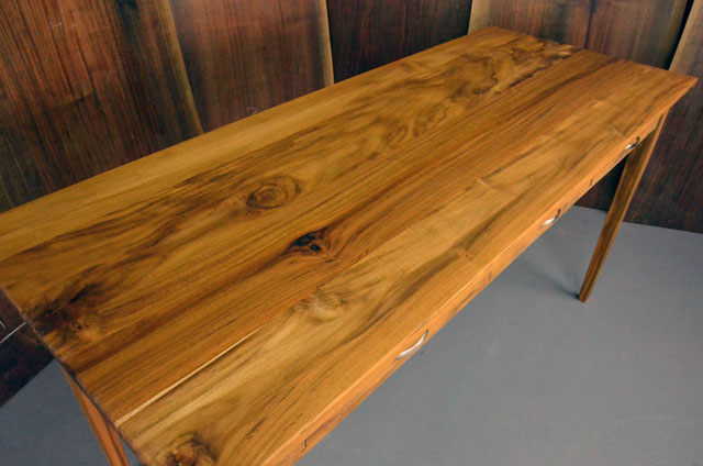 Custom Teak Executive Desk