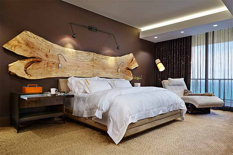 Natural Edge Spalted Maple Headboard