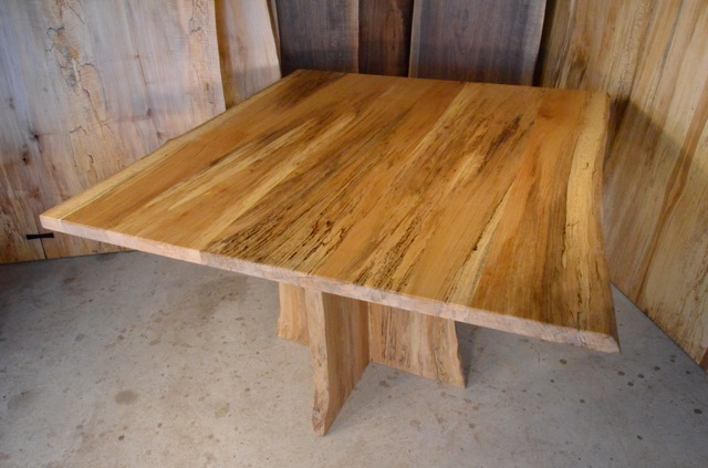 Quilted Sycamore Table with Quilted Sycamore Base