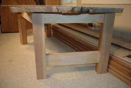 Recycled Reclaimed Bookmatched Maple Crotch Table_2
