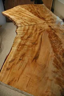 Recycled Reclaimed Bookmatched Maple Crotch Table_3