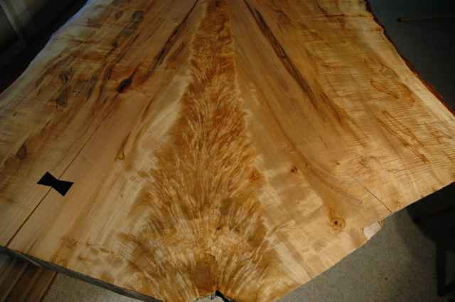 Recycled Reclaimed Bookmatched Maple Crotch Table_5