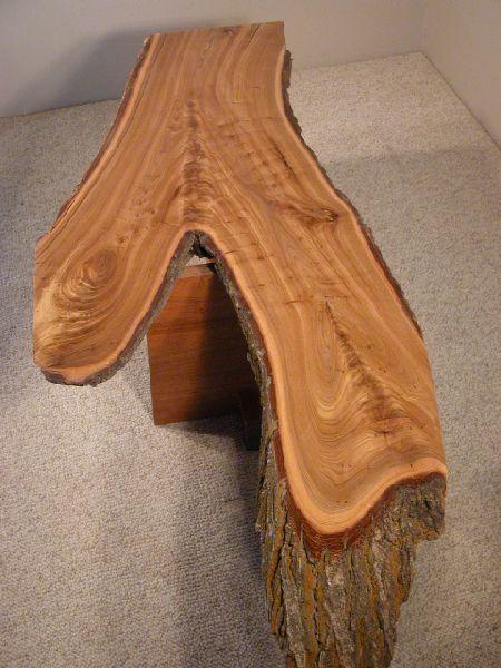 Recycled Rustic Siberian Elm Slab Custom Coffee Table 1