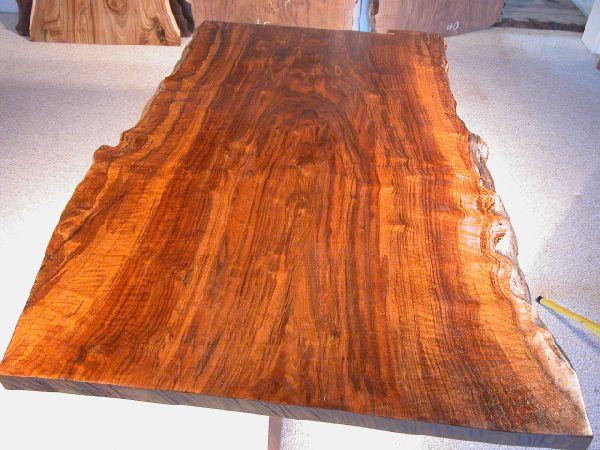 Rustic 5 Custom Claro Slab Walnut Dining Table With Organic Free Form