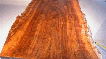 Rustic 5.5' Custom Claro Slab Custom Walnut Dining Table With Organic, Free Form, Natural Edge Top 2