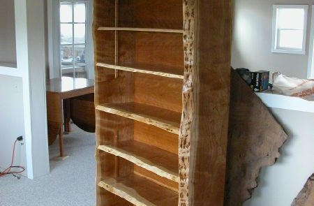Rustic Custom Bookcase made from Cherry 1