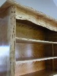 Rustic Custom Bookcase made from Cherry 3