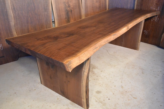 Rustic Handmade Walnut Slab Dining Table