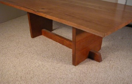 Rustic Knotty Cherry Custom Coffee Table 1