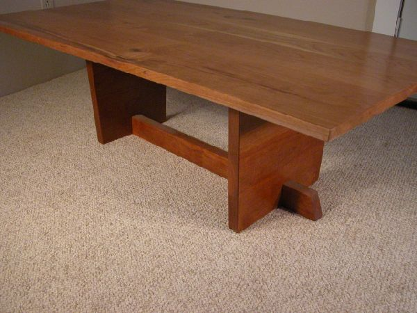 Rustic Knotty Cherry Custom Wooden Coffee Table