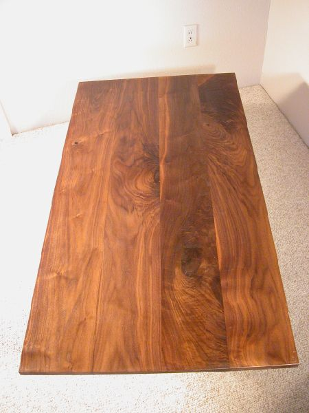 Rustic Knotty Walnut table