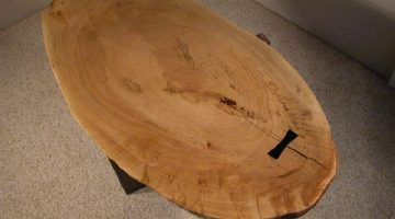 Rustic Large Maple Slab Custom Coffee Table 1