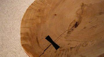 Rustic Large Maple Slab Custom Coffee Table 2