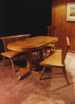 Ash custom country handmade dining table