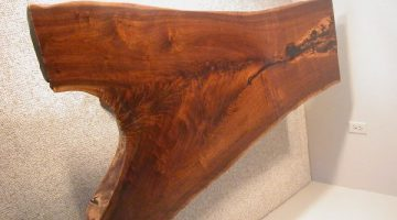 Rustic Walnut Crotch Slab Rustic Custom Coffee Table 2