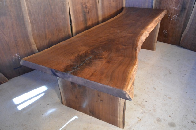 Rustic Walnut Slab Dining Table