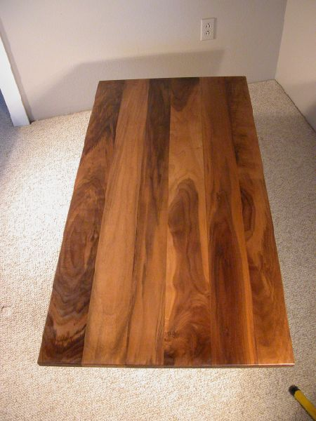 Custom Walnut Coffee Table With Cherry Base