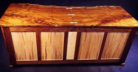 Custom Contemporary Rustic Claro Walnut Slab Desk 2