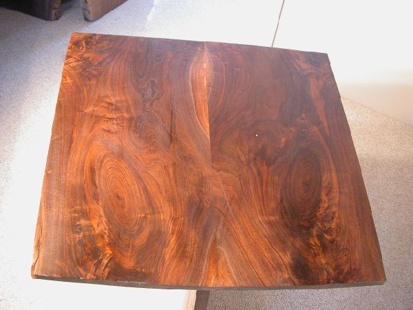 Small Figured Bookmatched Custom Walnut Dining Table