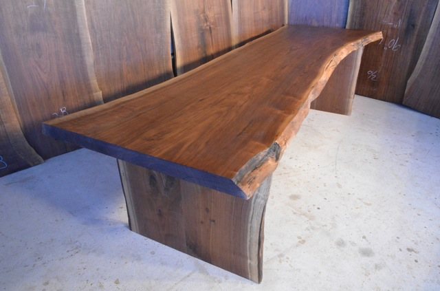 Solid Walnut Slab Dining Table