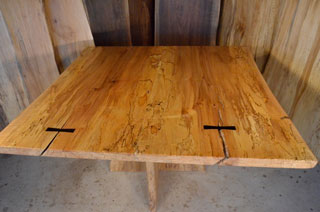 Spalted Curly Maple Dining Table