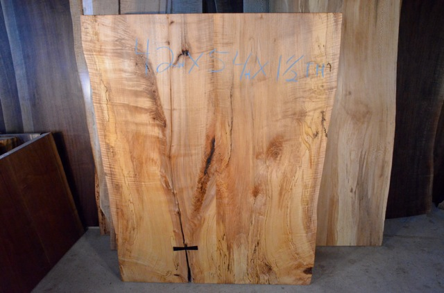 Spalted Curly Maple Table with Inlaid Ebony Butterfly4