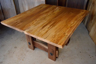 Spalted Curly Maple Table