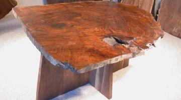 Spectacular Claro Burl Walnut Slab Custom Dining Table 1