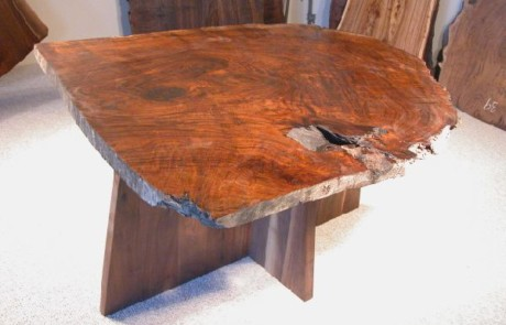 Spectacular Claro Burl Walnut Slab Custom Dining Table 1