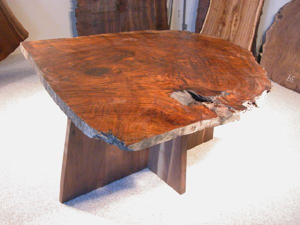 Spectacular Claro Burl Walnut Slab Custom Kitchen Table!