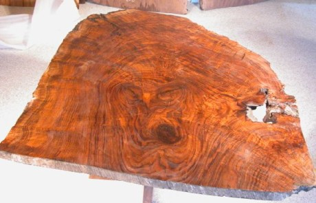 Spectacular Claro Burl Walnut Slab Custom Dining Table 2