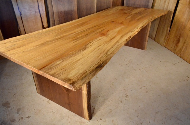 Sycamore Table with Thick Walnut Base3