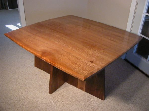 Sycamore and Walnut custom slab handmade dining table