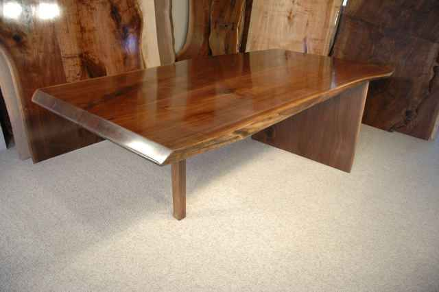 Custom Rustic Walnut Slab Conference Table