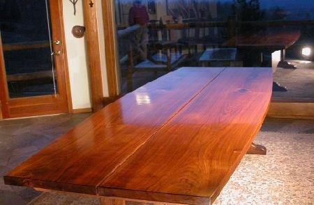 The 10' Lind Custom Walnut Slab Dining Table 1