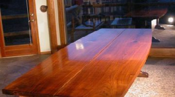 The 10' Lind Custom Hand Built Walnut Slab Dining Table